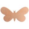 Metal Blank 24ga Copper Butterfly 33x19mm No Hole 9pcs